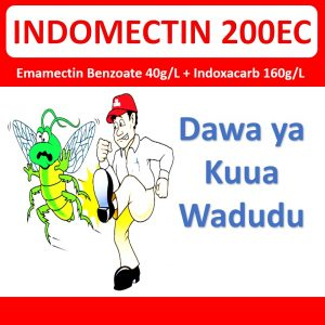 Indomectin 200EC ni dawa ya kuua wadudu waharibifu kwenye mazao mbalimbali hasa mpunga, nafaka na mazao ya mbogamboga