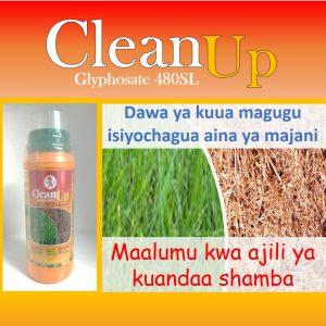 Clean Up: Dawa ya kuua magugu aina zote, nzuri kwa ajili ya kuandaa shamba