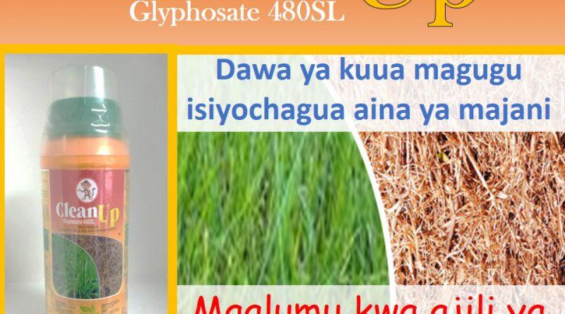Clean UP ni dawa ya kuua magugu kiuagugu kisichochambua magugu ambayo tayari yamekwishachomoza ardhini
