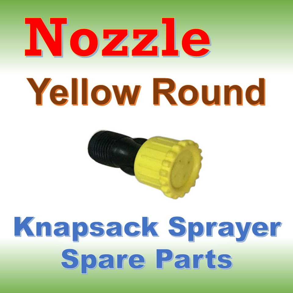 Nozzle Yellow Round: Knapsack Sprayer Spare Parts